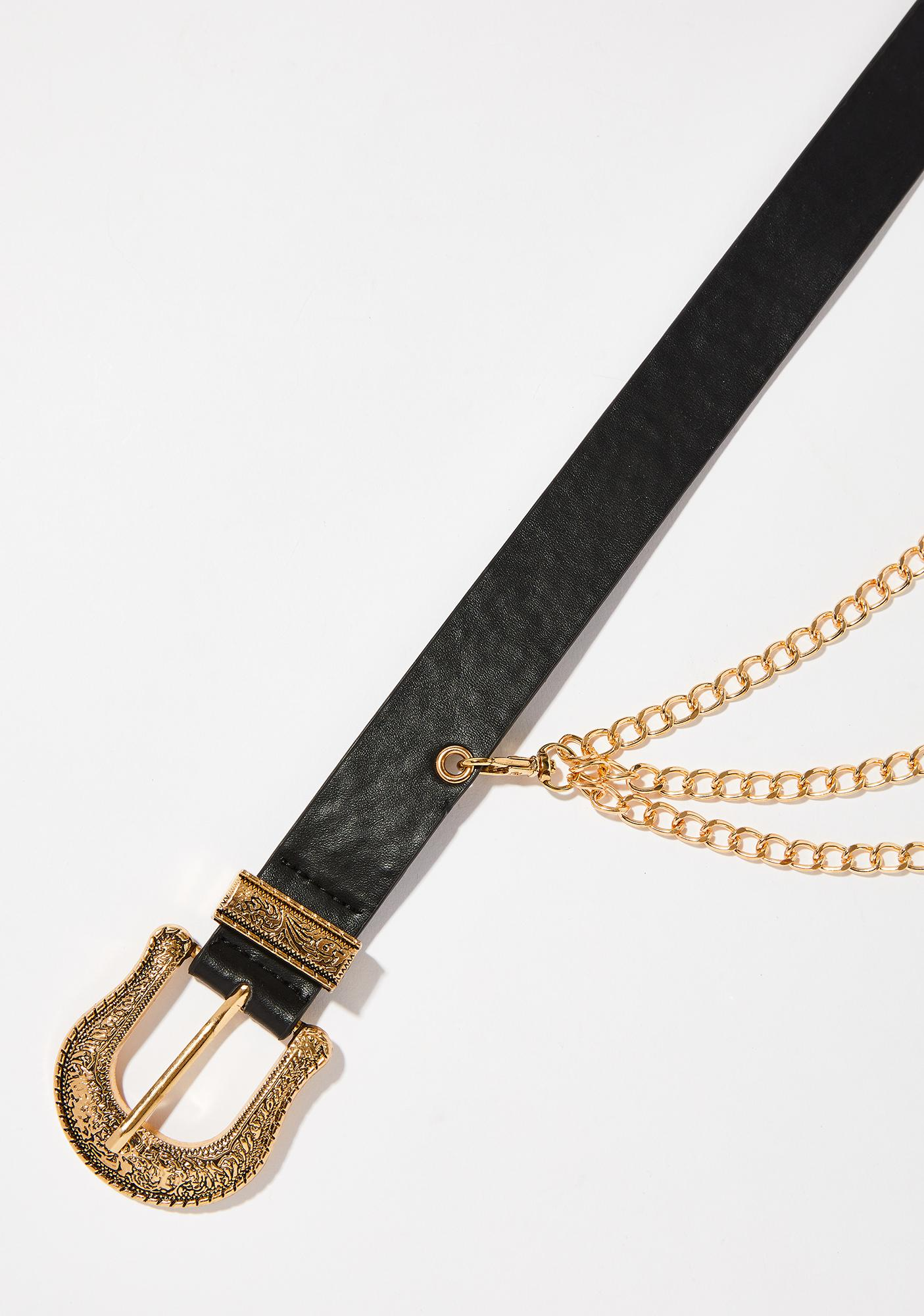 Money Bags Double Buckle Belt