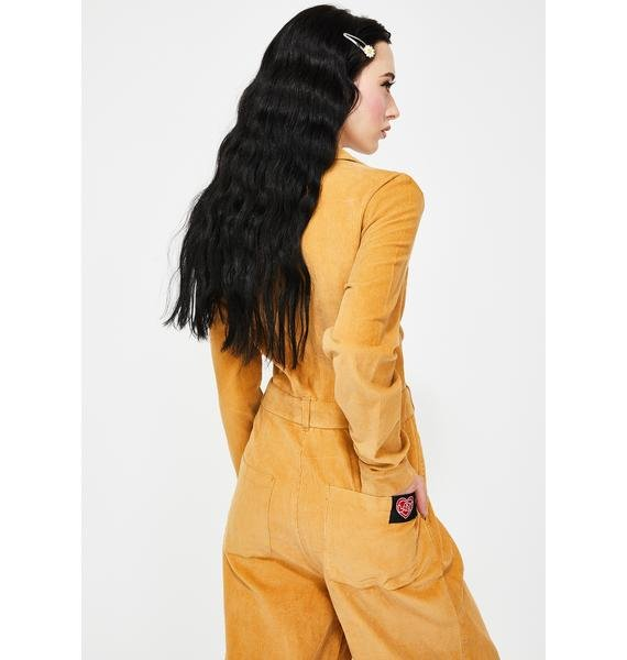 Lazy Oaf Lazy Mustard Corduroy Boilersuit