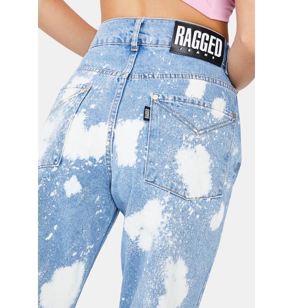 The Ragged Priest Acid Wash Straight Leg Denim Jeans