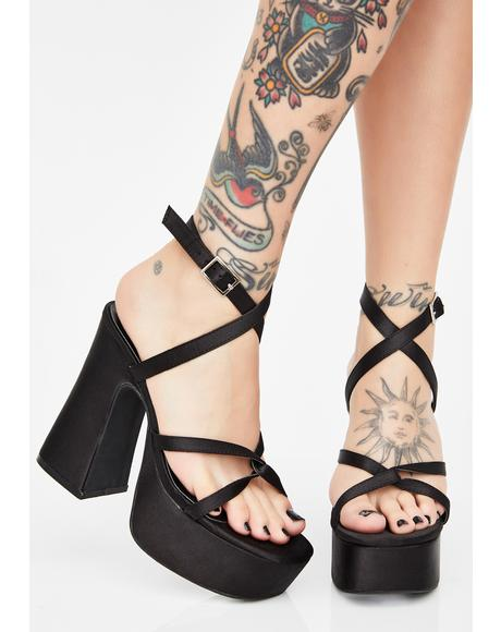 Dark Sassy Shmood Platform Heels