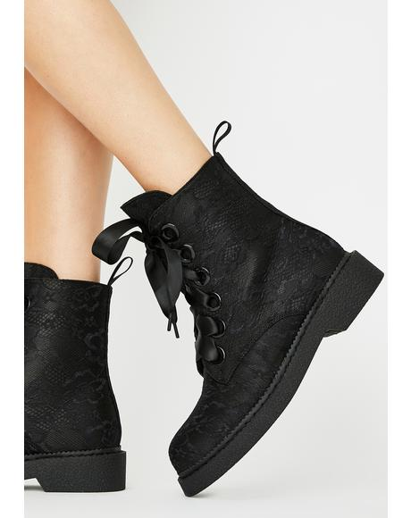 Fake Love Combat Boots