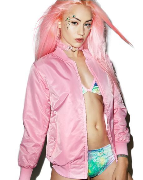 Baby Pink MA-1 Bomber Jacket