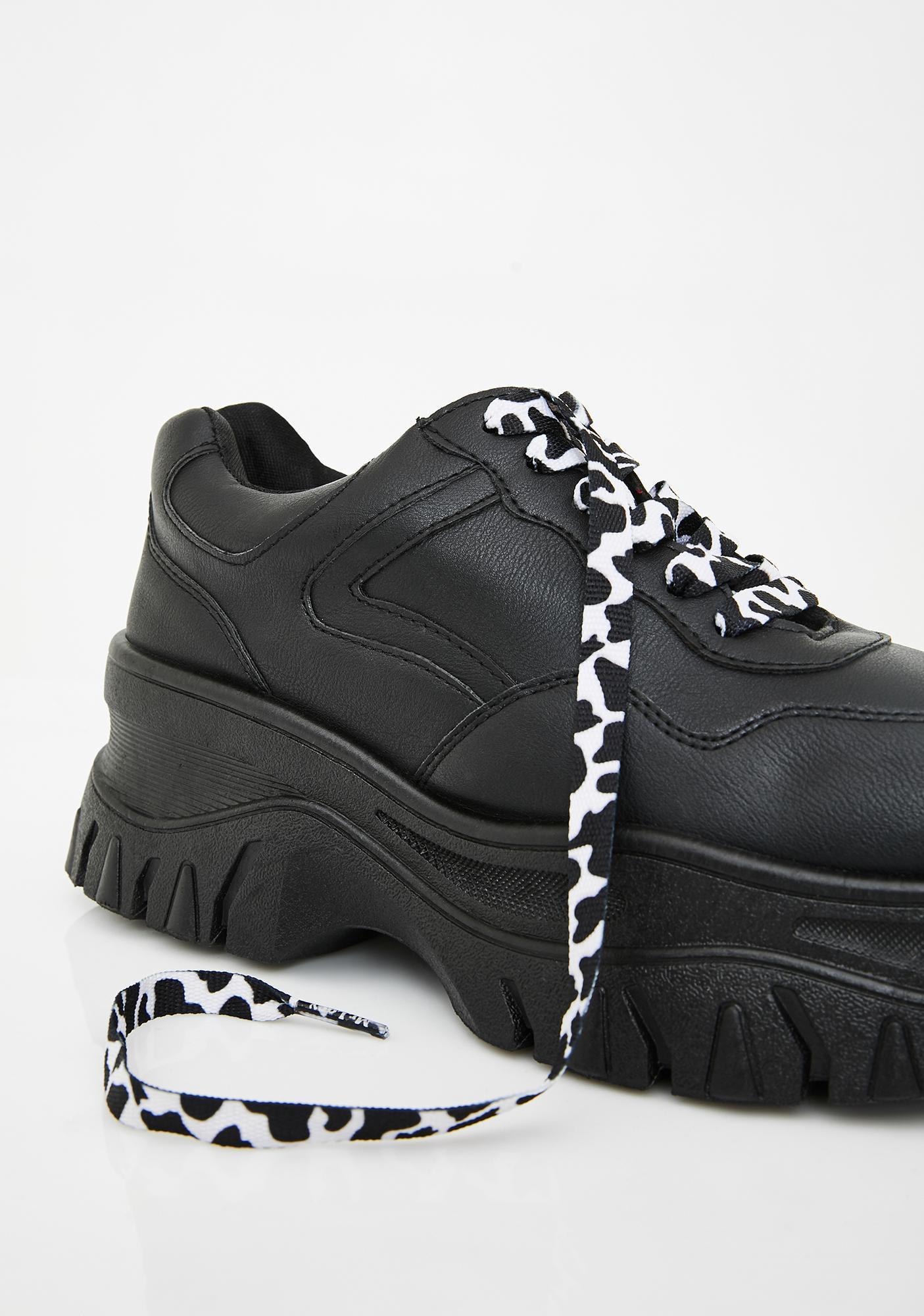 Mr. Lacy Cow Print Shoe Laces