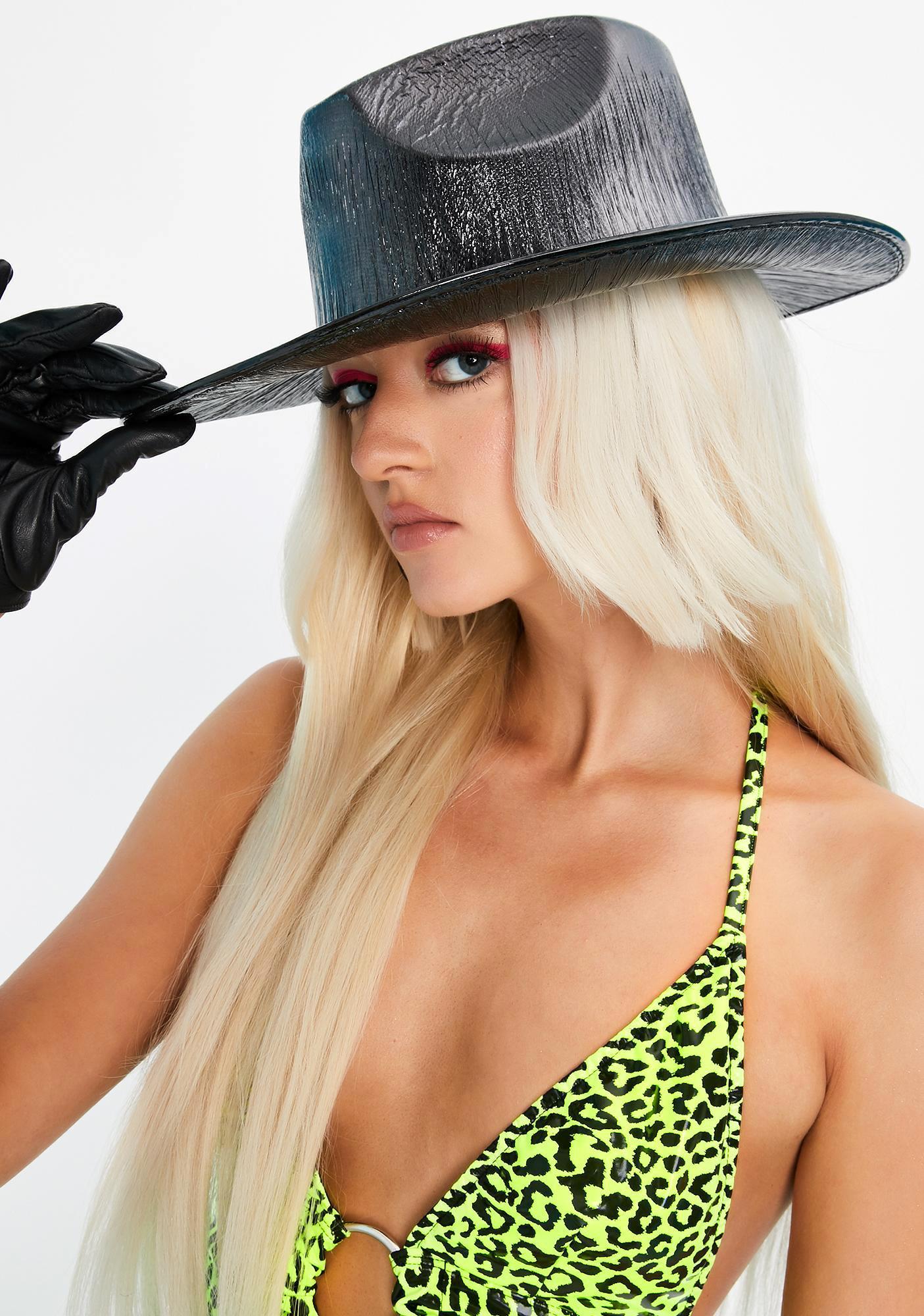 Metallic Black Cowboy Hat