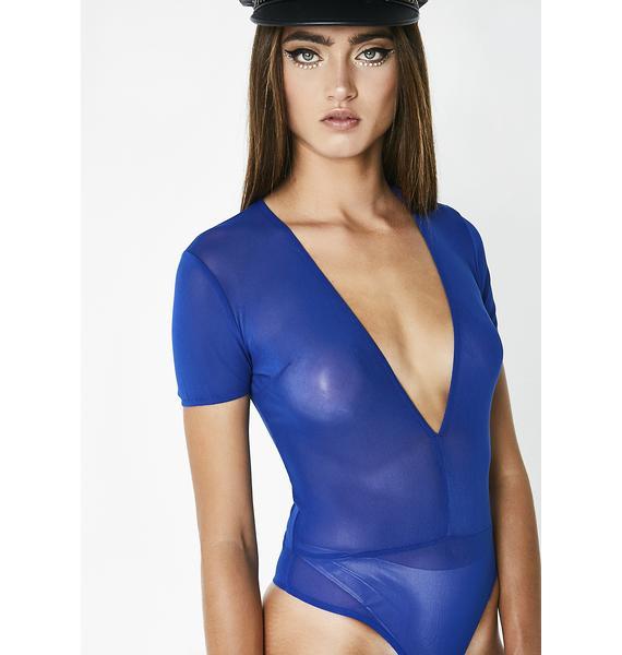 Cobalt Polly Ann Mesh Bodysuit
