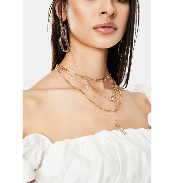 Get Cuffed Layered Chain Necklace