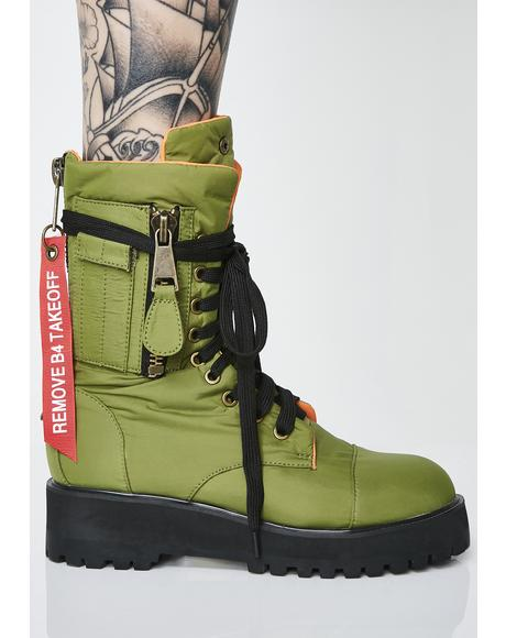 Kush Combat Flight Boots