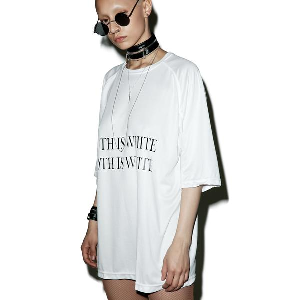 W.I.A Goth Is White Tee