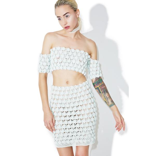 Maria ke Fisherman Gooseberry Crochet Skirt