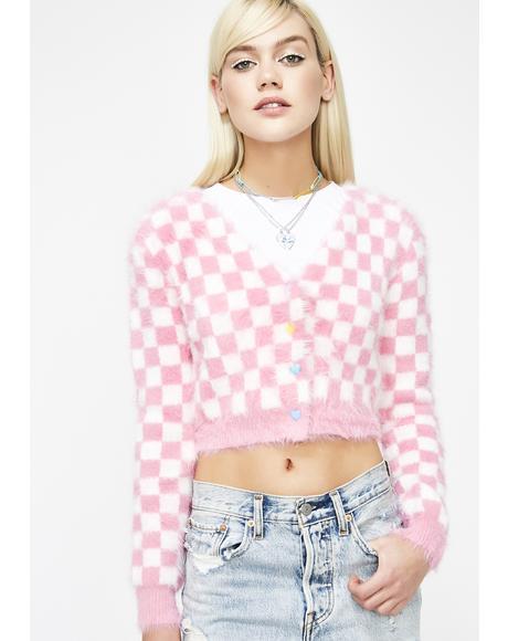 Sweet Daydream Checkered Cardigan