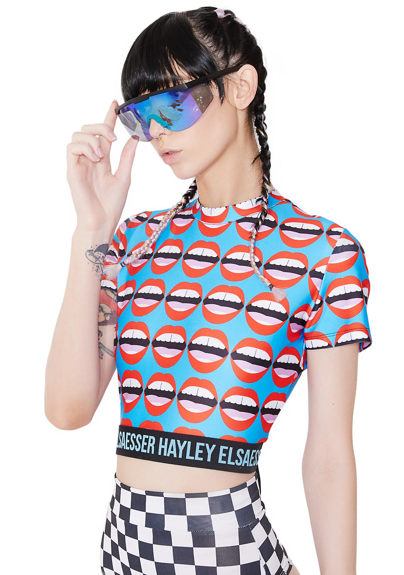 Hayley Elsaesser Mouthy Sports Crop Top