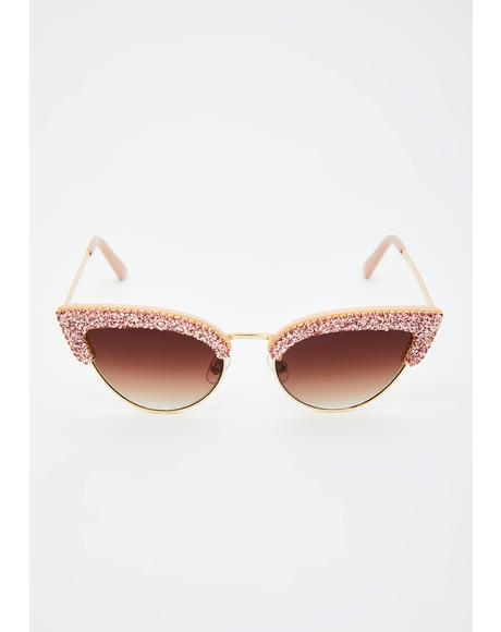 Dramatic Edition Glitter Sunglasses
