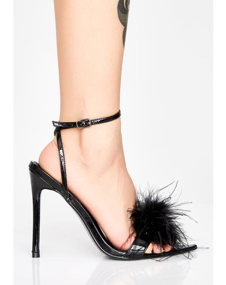 Lunar Disco Inferno Fluffy Heels