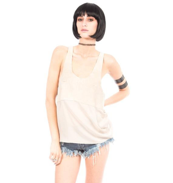 One Teaspoon The Champion Suede Top