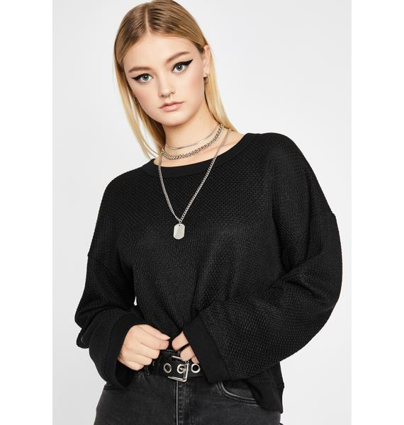 No Interest Long Sleeve Sweater