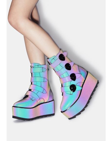 Karma Alien Reflective Platform Boots