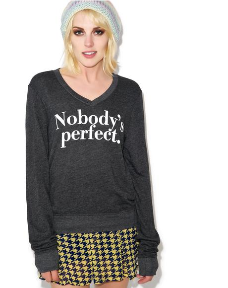 Nobody's Perfect V-Neck Baggy Beach Jumper