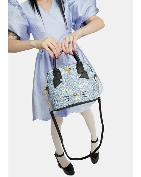 Kitty Kitsch PVC Dome Crossbody Bag