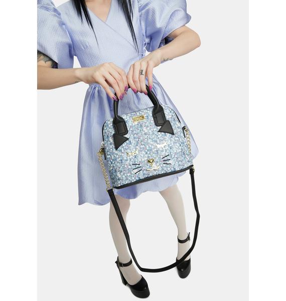 Betsey Johnson Kitty Kitsch PVC Dome Crossbody Bag