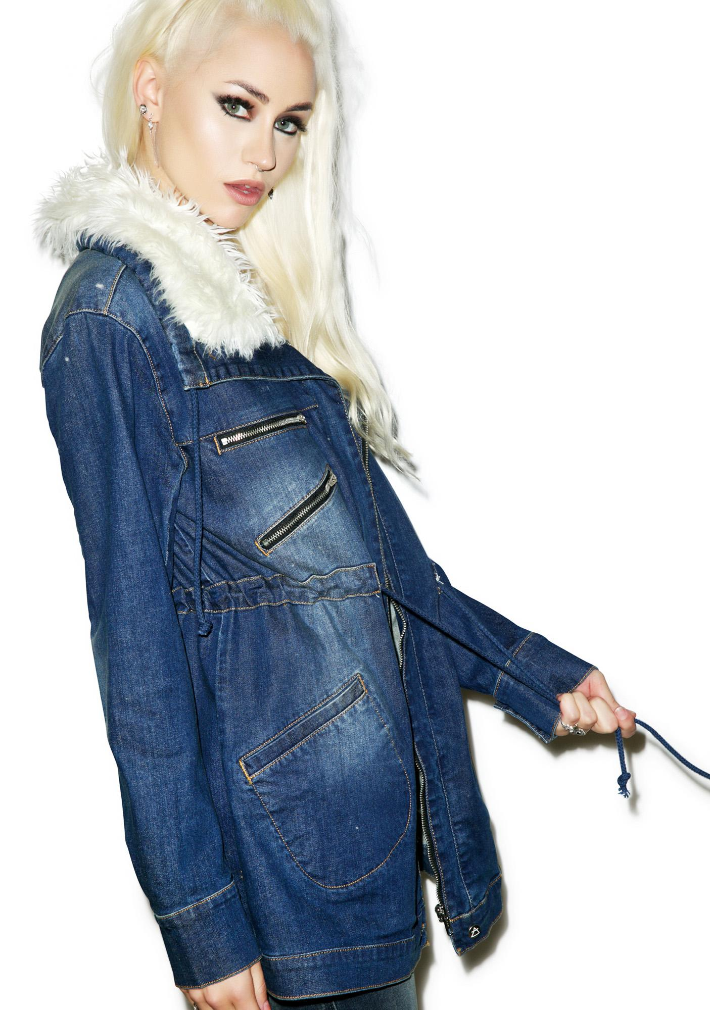 Somedays Lovin Rex Stretch Denim Anorak