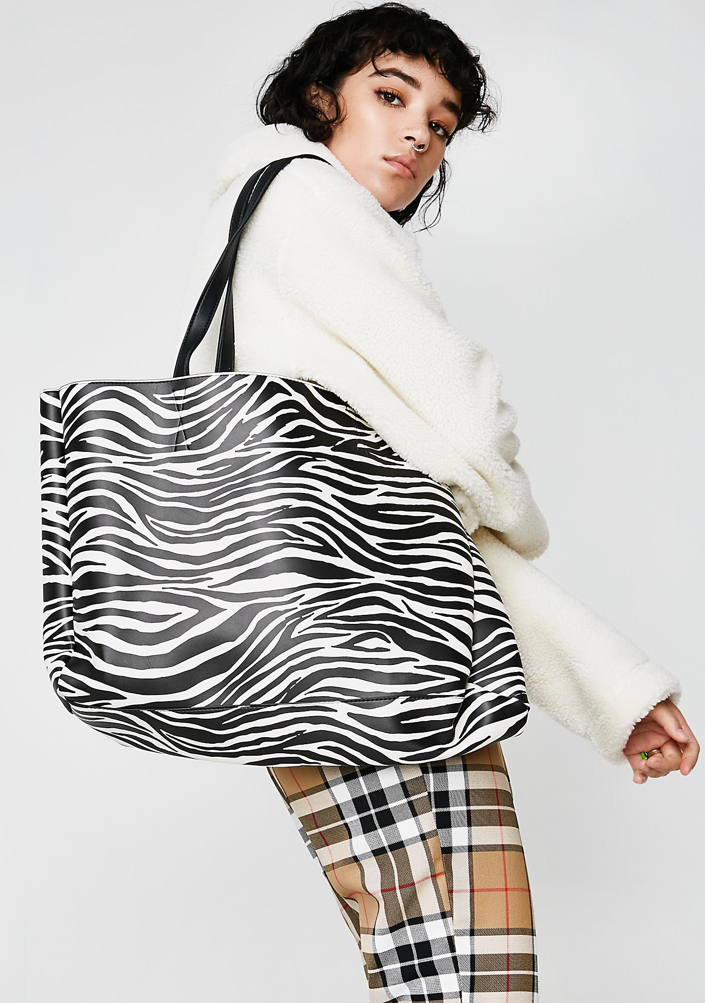 Skinnydip Zebra Camille Shoulder Bag
