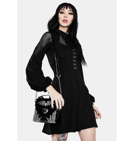 Dark In Love Daily Student Acted Elegant Mini Dress