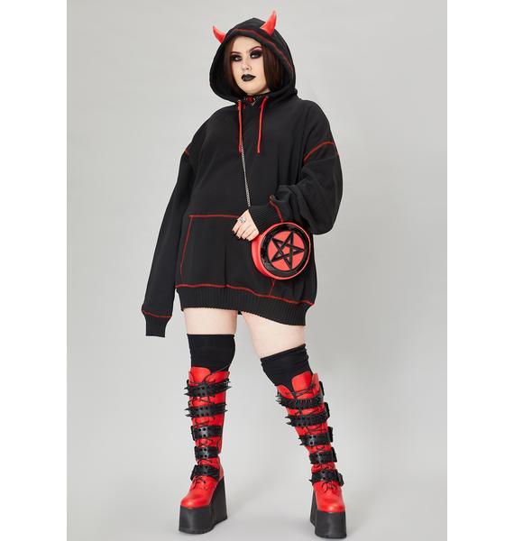 Widow We're Calling All Devils Horned Hoodie Sweatshirt
