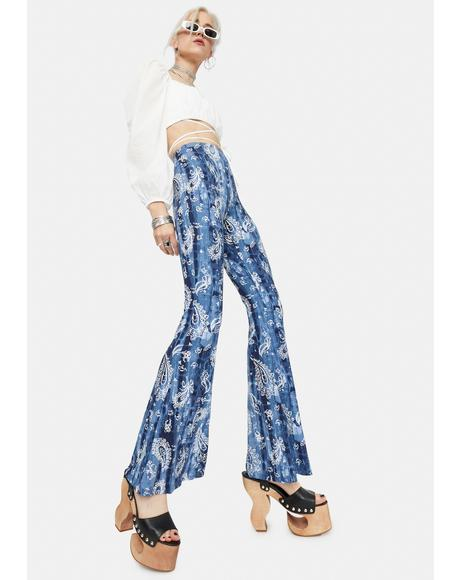 Call You Out Paisley Flare Pants