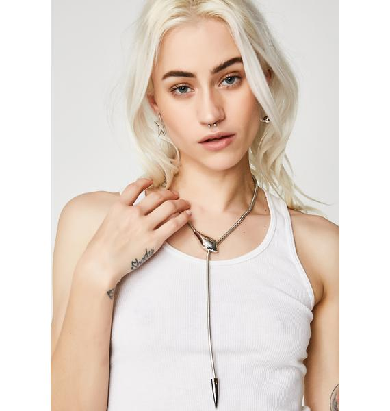 Don't Hiss Me Snake Necklace