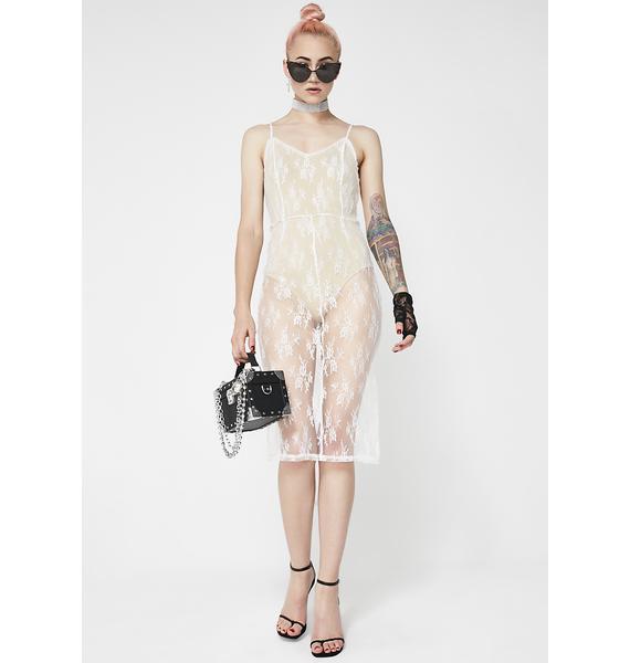 Nude Self Love Lace Dress