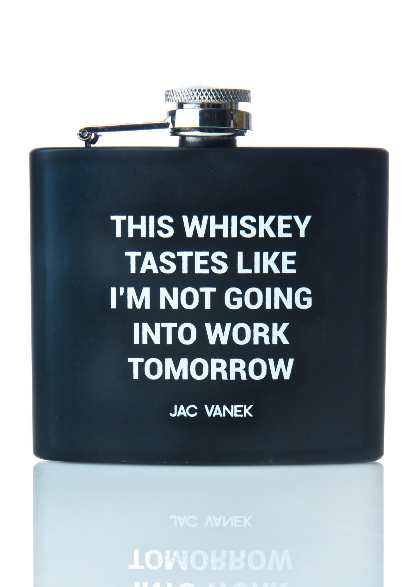 Jac Vanek Whiskey Wildin' Flask