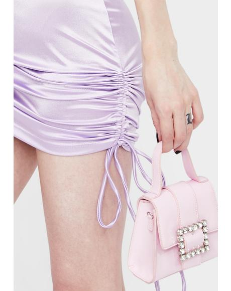 Pampered & Perfect Ruched Satin Skirt