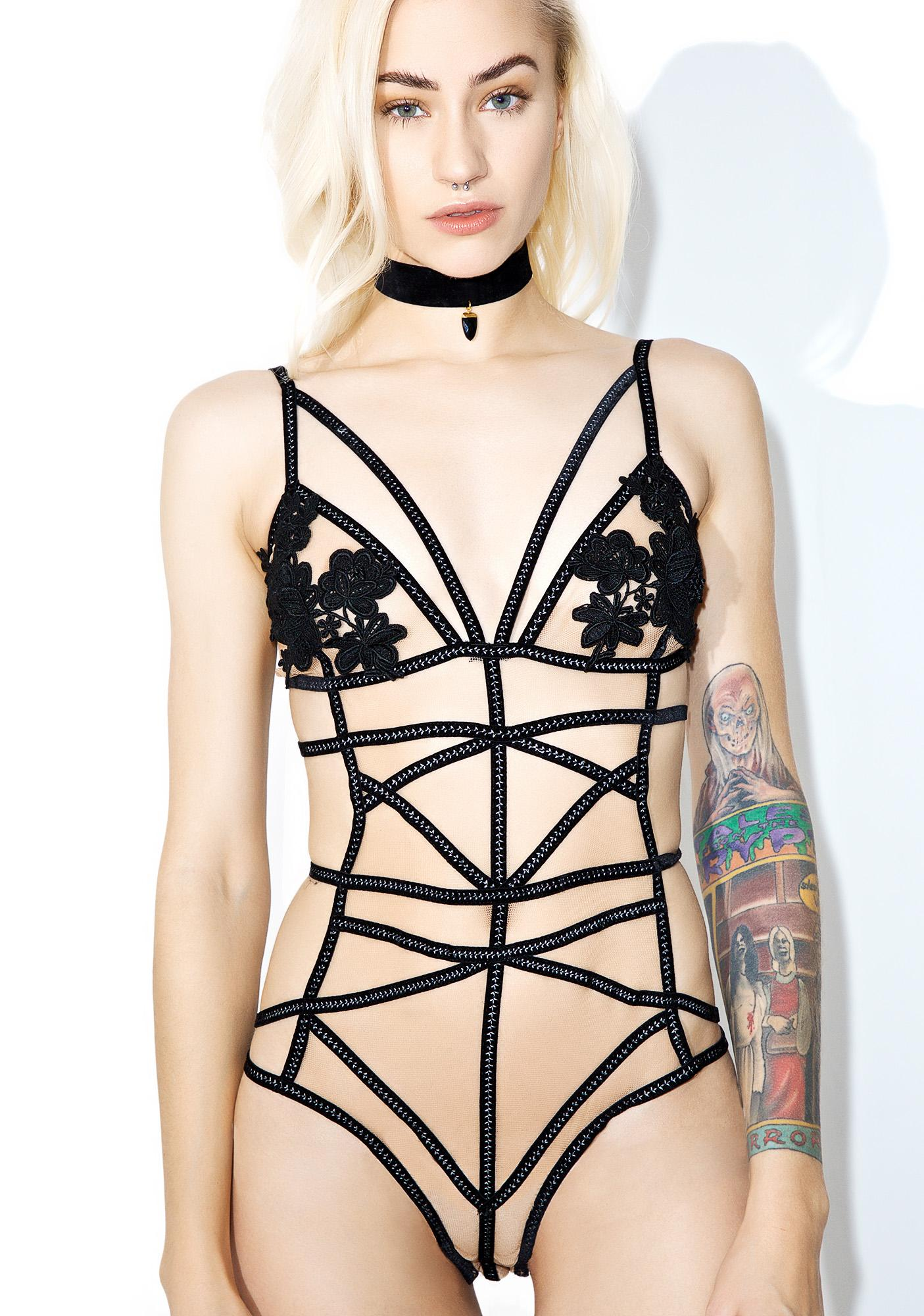 For Love & Lemons Rylee Rose Bondage Bodysuit