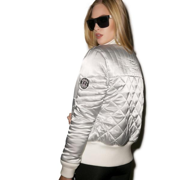 Joyrich Quilted Satin Jacket