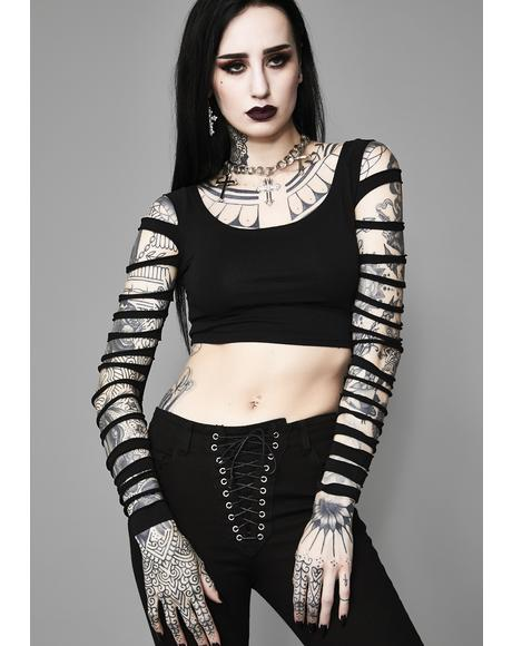 Crypt Creeper Shredded Top