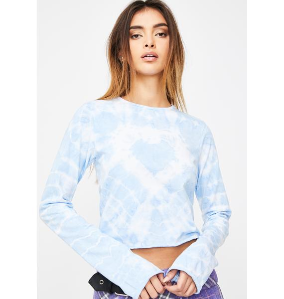 The Ragged Priest Bubble Tie Dye Top
