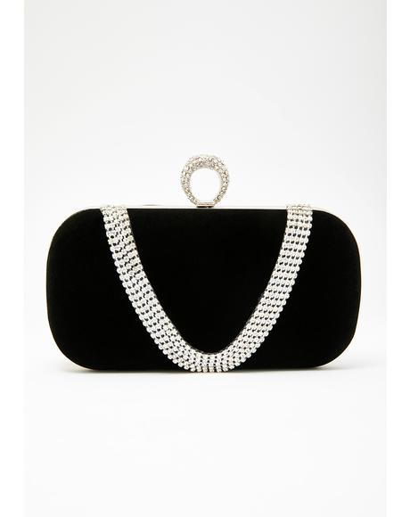Gala Queen Rhinestone Clutch