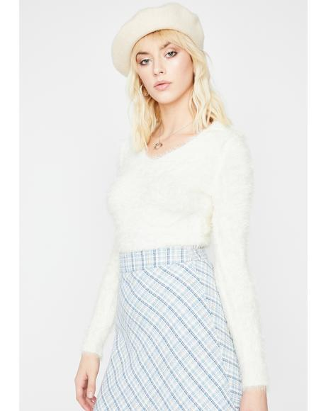 Material Grl Fuzzy Sweater