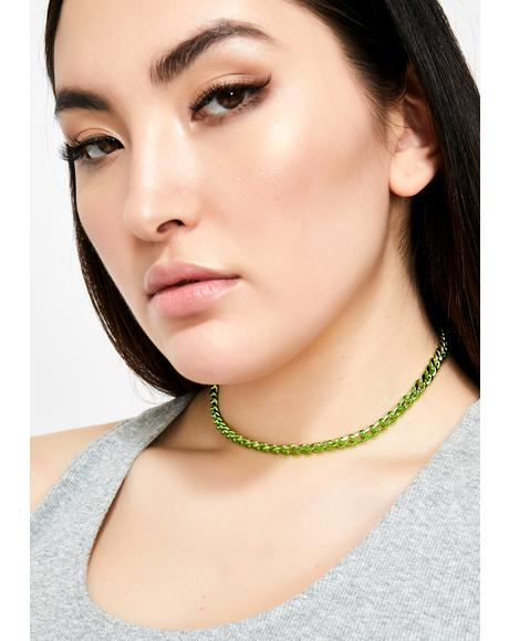 Radioactive Prism Electric Chain Choker