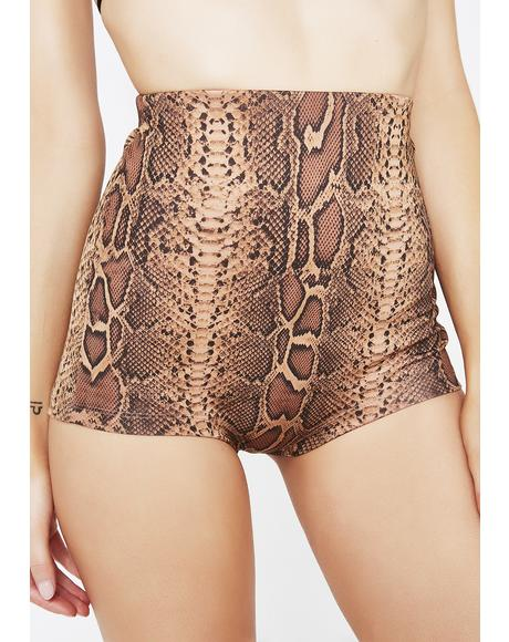 Fatal Dose Snakeskin Shorts