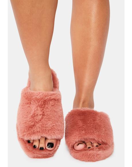Comfort Kisses Faux Fur Slippers