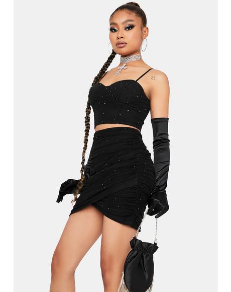Club Queen Skirt Set