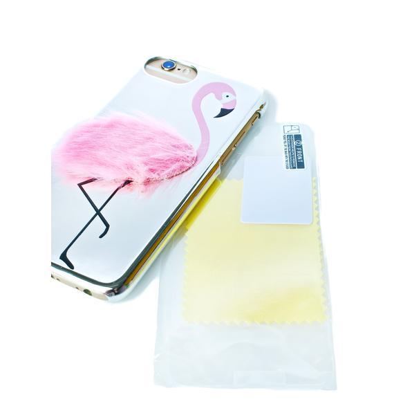Skinnydip Flamingo Fluff iPhone Case