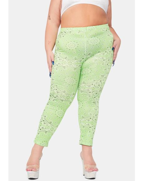 Lime Gotta Paisley Rodeo Leggings