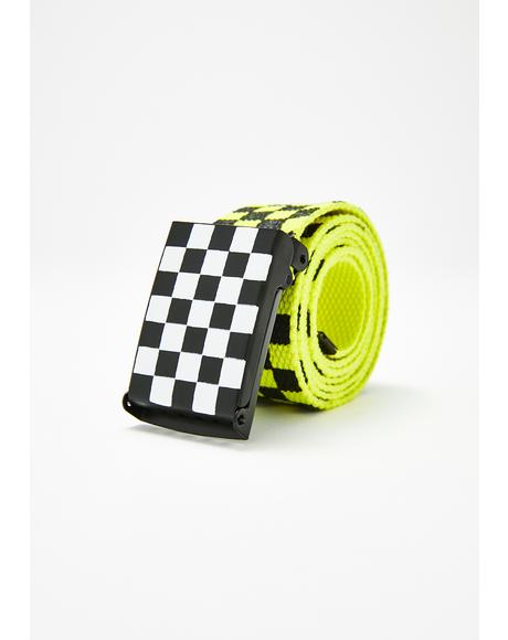 Electric Dope Crowd Checkered Belt