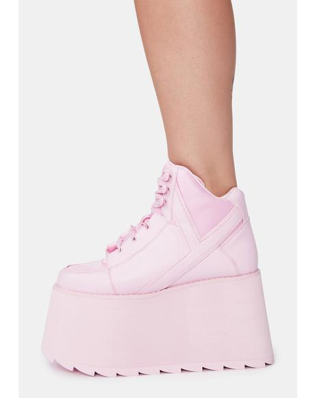 Pink Qozmo 2 Platform Sneakers