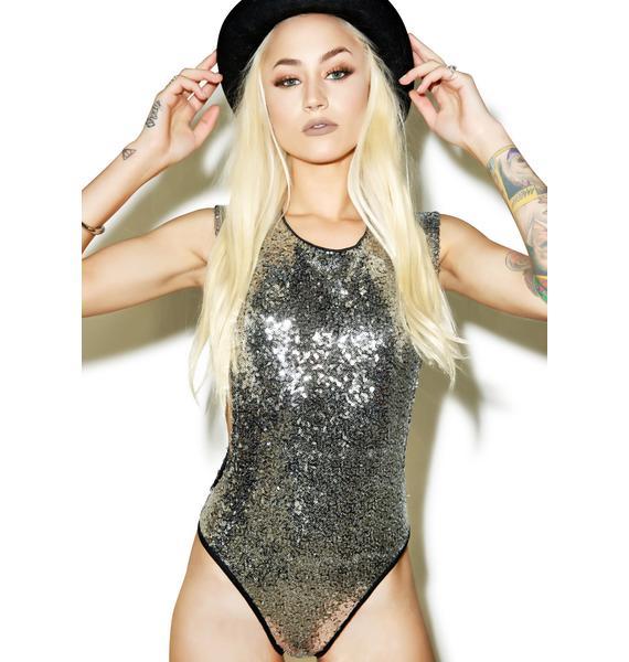 Disco Fever Sequin Bodysuit