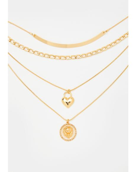 Roaring Love Layered Necklace