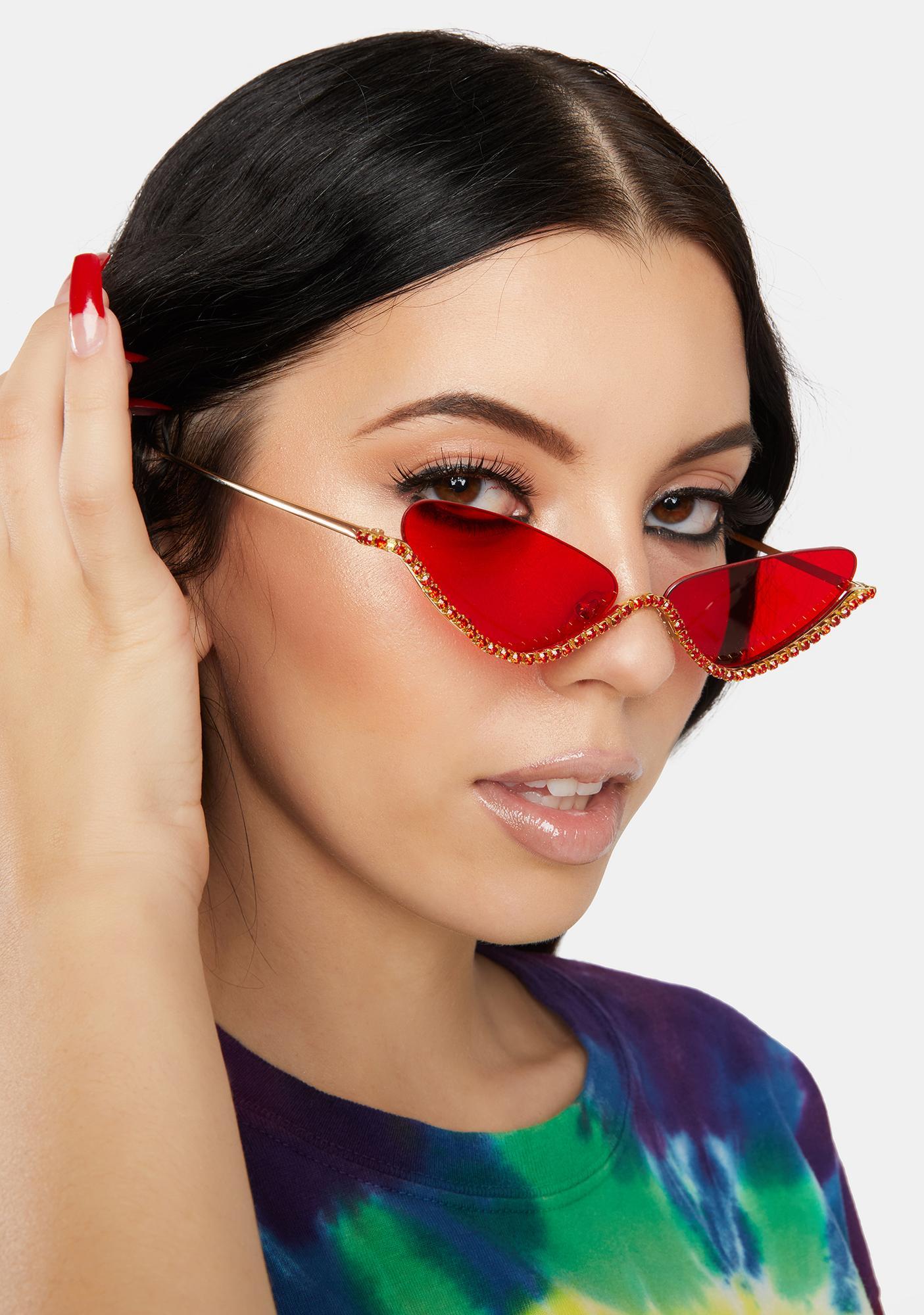 Ruby Purrrfect Shine Cat Eye Sunglasses