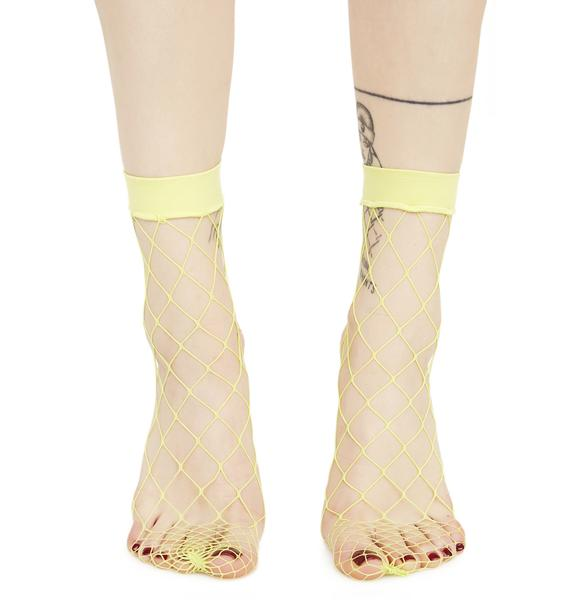 Toxic Slime Fishnet Socks